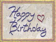 De gelukkige Kaart van de Verjaardag Royalty-vrije Stock Fotografie
