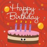 De gelukkige Kaart van de Verjaardag vector illustratie