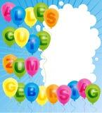 De gelukkige Kaart van de Verjaardag - het Duits Royalty-vrije Stock Foto