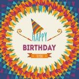 De gelukkige kaart van de verjaardagsgroet Royalty-vrije Stock Afbeelding