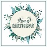 De gelukkige kaart van de verjaardagsgroet Stock Fotografie