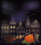 De gelukkige kaart van Halloween Stock Afbeeldingen
