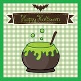 De gelukkige kaart van Halloween Royalty-vrije Stock Fotografie