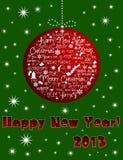 De gelukkige kaart van het Nieuwjaar 2013 Royalty-vrije Illustratie