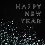 De gelukkige kaart van de Nieuwjaargroet Stock Afbeeldingen