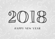 2018 de Gelukkige kaart van de Nieuwjaargroet royalty-vrije illustratie