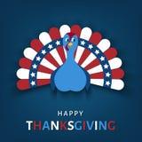 De gelukkige kaart van de Thanksgiving daygroet vector illustratie