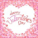 De gelukkige kaart van de valentijnskaart`s dag royalty-vrije illustratie