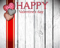De gelukkige kaarten van de valentijnskaartendag met harten Royalty-vrije Stock Foto's