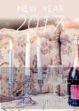 de gelukkige kalender van 2017 Royalty-vrije Stock Foto's