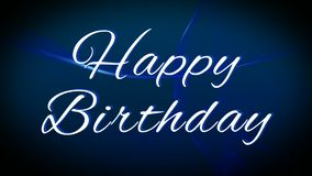 de gelukkige kalligrafie van de verjaardagstekst vector illustratie