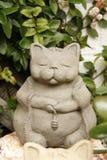 De gelukkige kat van de keramiek Royalty-vrije Stock Afbeeldingen