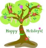 De gelukkige Kerstboom van de Vakantie stock illustratie