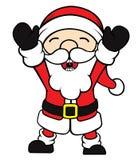 De gelukkige Kerstman Stock Afbeeldingen