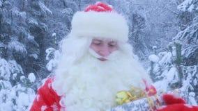 De gelukkige Kerstman in Kerstmis, vadervorst stock footage