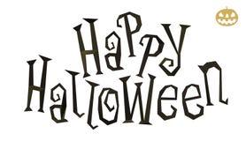 De gelukkige lage polytitel van Halloween Royalty-vrije Stock Fotografie