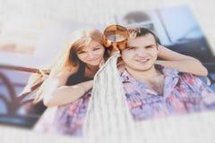 De gelukkige liefde komt soms aan het eind Royalty-vrije Stock Afbeeldingen