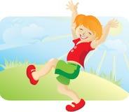De gelukkige lopende jongen Royalty-vrije Stock Afbeelding