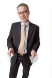 De gelukkige mens toont vijf a?es Royalty-vrije Stock Afbeelding