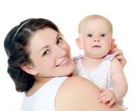 De gelukkige moeder met baby royalty-vrije stock fotografie