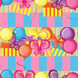 De gelukkige naadloze achtergrond van de Verjaardag stock illustratie