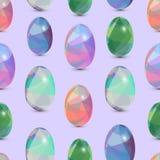 De gelukkige naadloze achtergrond van Pasen 3d Eieren met de samenvatting, driehoekspatroon Royalty-vrije Stock Foto's