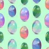De gelukkige naadloze achtergrond van Pasen 3d Eieren met de samenvatting, driehoekspatroon Stock Afbeelding