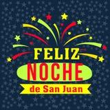 De gelukkige nacht van San Juan in het Spaans Royalty-vrije Stock Fotografie