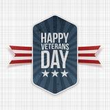 De gelukkige nationale Banner van de Veteranendag met Lint stock illustratie