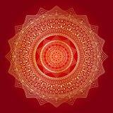 De gelukkige Navratri-achtergrond van het mandalaontwerp stock illustratie