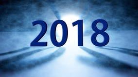 De gelukkige nieuwe achtergrond van de jaar 2018 vakantie 2018 begroet het Gelukkige Nieuwjaar Royalty-vrije Stock Fotografie