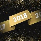 De gelukkige Nieuwe Kaart van 2018 Jaargroeten Royalty-vrije Stock Foto