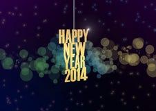 De gelukkige nieuwe van de het jaartekst van 2014 abstracte achtergrond stock illustratie