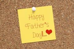 De gelukkige Nota van de Vadersdag voor Papa Royalty-vrije Stock Afbeelding