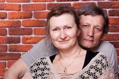 De gelukkige oudsten koppelen in liefde Royalty-vrije Stock Afbeelding