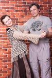 De gelukkige oudsten koppelen in liefde Stock Foto