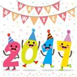 De gelukkige Partij van het Nieuwjaaraantal Stock Fotografie