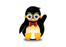 De gelukkige Pinguïn golft stock illustratie
