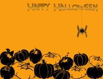 De gelukkige prentbriefkaar van Halloween Royalty-vrije Stock Foto's