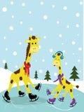 De gelukkige prentbriefkaar van het Nieuwjaar Royalty-vrije Stock Foto's