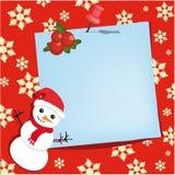 De gelukkige Punaise van het Nieuwjaar met document blad Royalty-vrije Stock Afbeelding