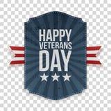 De gelukkige realistische patriottische Banner van de Veteranendag vector illustratie