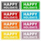 De gelukkige reeks van het Vakantieteken Stock Afbeeldingen