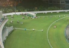 De gelukkige Renbaan van de Vallei in Hongkong stock afbeelding