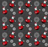 De gelukkige rode achtergrond van het Sneeuwmanpatroon Stock Foto's