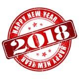 De gelukkige rubberzegel van Nieuwjaar 2018 grunge Royalty-vrije Stock Foto