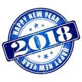 De gelukkige rubberzegel van Nieuwjaar 2018 grunge Royalty-vrije Stock Afbeelding