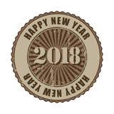De gelukkige rubberzegel van Nieuwjaar 2018 grunge Royalty-vrije Stock Afbeeldingen