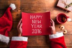 De gelukkige Samenstelling van het Nieuwjaar Royalty-vrije Stock Afbeelding