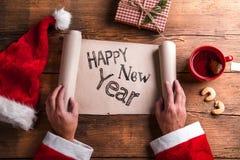 De gelukkige Samenstelling van het Nieuwjaar Royalty-vrije Stock Afbeeldingen